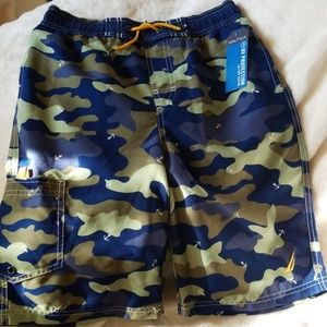 NAUTICA UV PROTECTED BOYS SWIM TRUNKS